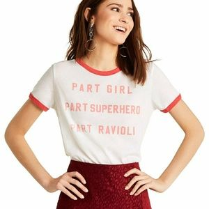 NWT WILDFOX GRAPHIC TEE SIZE S JOHNY RINGER WIDE